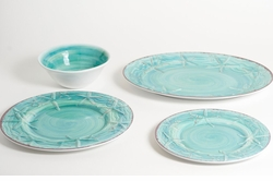 Melamine Raised Starfish Dinner Collection in Two Colors <font color=a8bb35> NEW</font>