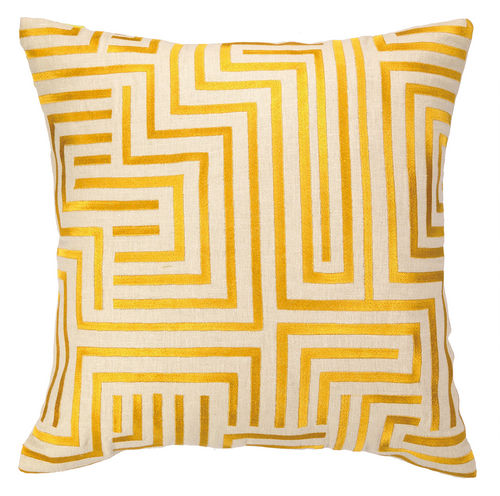 Mira Mesa Embroidered Pillow in Goldenrod