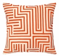 Mira Mesa Embroidered Pillow in Tangerine