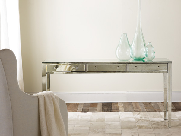 Mirrored Three-Drawer Console