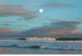 Moon and Surf Giclee
