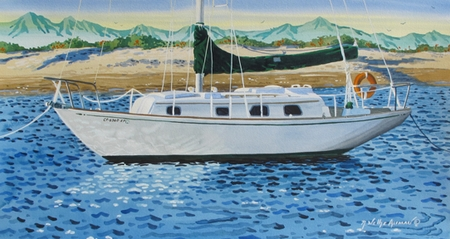 Morning Light on the Sailboat Giclee