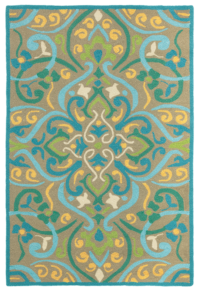 Morocco Outdoor Rug in Aqua for Sale Cottage & Bungalow
