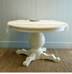 Nantucket Pedistal Table in Two Sizes <font color=a8bb35> NEW</font>