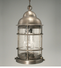 Nautical Hanging Fixture with Clear Seedy Glass