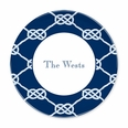 Nautical Knot Navy Plates- Set of Four
