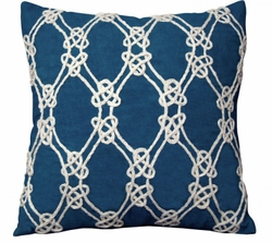 Nautical Rope Indoor Pillow in Navy<font color=a8bb35> NEW</font>