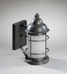 Nautical Wall Mount Fixture with Frosted Glass