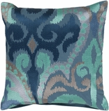 Navy and Gray Ikat