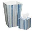 Ocean Blue Stripe Bath Set