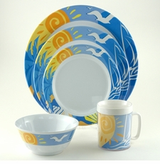Ocean Breeze Melamine Dinnerware Collection with Platter