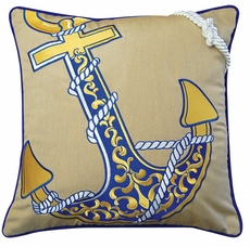 Outdoor Sunbrella Anchor Pillow