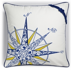 Outdoor Sunbrella Compass Rose Pillow