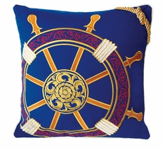 Outdoor Sunbrella Ships Wheel Pillow