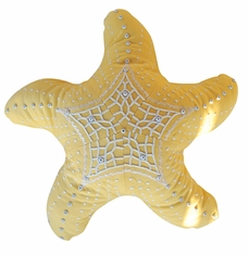 Outdoor Sunbrella Starfish Pillow in Buttercup Yellow