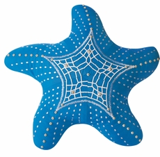 Outdoor Sunbrella Starfish Pillow in Capri Blue