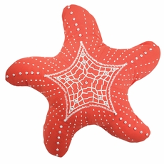 Outdoor Sunbrella Starfish Pillow in Coral