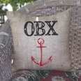 Outer Banks Burlap Pillow