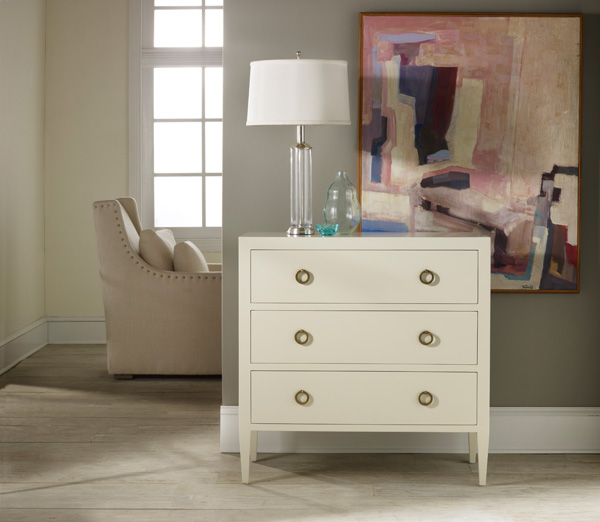 Painted White Three Drawer Chest
