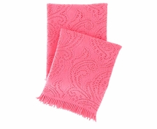Paisley Lace Azalea Throw