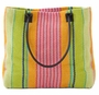 Parasol Stripe Woven Cotton Tote Bag