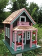 "Petosky ""Lake View"" Cottage Birdhouse<font color=a8bb35> NEW </font>"