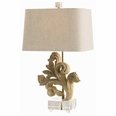 Picardi Hand Carved Solid Wood Fragment/Acrylic Lamp