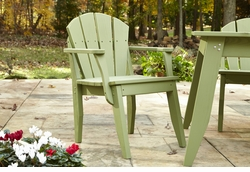 Plaza Outdoor Dining Chair With Arms <font color=a8bb35> NEW</font>