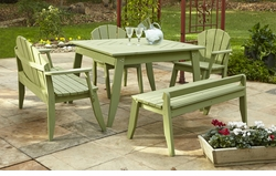 Plaza Outdoor Dining Table In Three Sizes <font color=a8bb35> NEW</font>