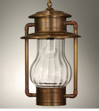 Railroad Hanging Lantern with Optic Glass