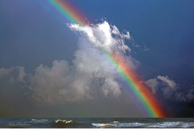Rainbow at Sea Giclee