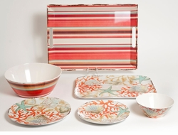 Reef Melamine Dinnerware Collection <font color=a8bb35> NEW</font>