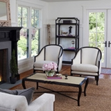 Rattan and Mahogany Frame Furniture