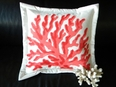 Red Finger Coral Outdoor Pillow