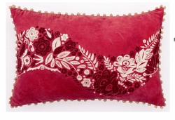Red Holiday Holly Berry Pillow