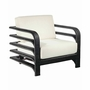 Reo Rattan Lounge Chair in Expresso