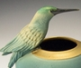 Ceramic Resting Hummingbird Bowl