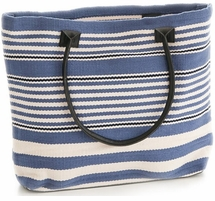 Rugby Stripe Demin Tote<font color=a8bb35> NEW</font>