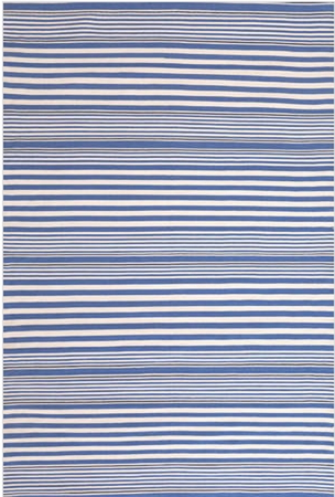 Dash and Albert Rugby Stripe Denim Rain or Shine Rug