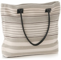 Rugby Stripe Platinum Tote<font color=a8bb35> NEW</font>