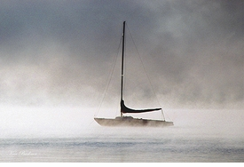 Sailboat and Fog Giclee