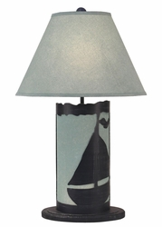 Sailboat Panel with Nightlight Lamp <font color=a8bb35> NEW</font>