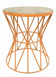 Santa Monica Table in Orange  <Font color=a8bb35> NEW</font>