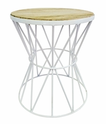 Santa Monica Table  in White  <Font color=a8bb35> NEW</font>