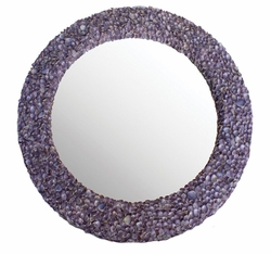 Sea Lavender Limpet Shell Mirror<font color=a8bb35> NEW</font>