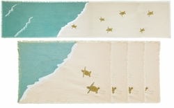Sea Turtle Table Runner and 4 Placemats <font color=a8bb35> NEW</font>