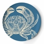 Set of Four Sea Life Melamine Dinner Plates