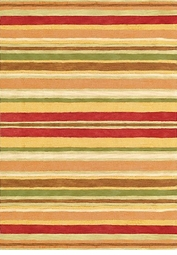 Sheffield Poppy Stripe Rug <font color=a8bb35> NEW</font>