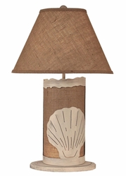 Shell Scene Panel with Nightlight Lamp <font color=a8bb35> NEW</font>