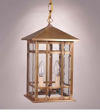 Sierra 2-Light Hanging Lantern with Clear Seedy Glass